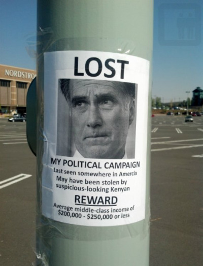 After last night, Mitt Romney will be free to disappear back to his career as a rich white assclown..