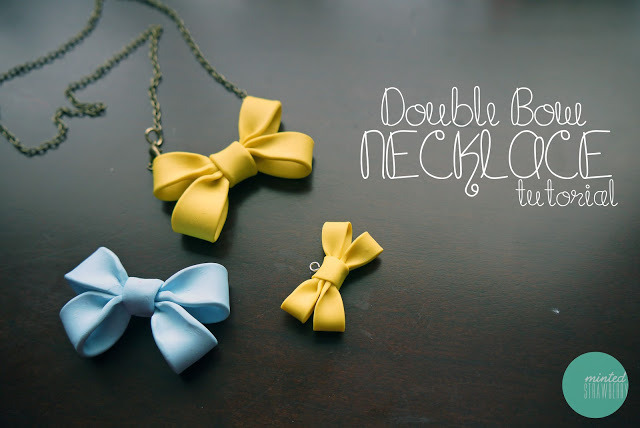 Double Bow Necklace | Minted Strawberry When I first saw this tutorial I thought it was stiffened fabric - nope, it's polymer clay! They are seriously the cutest things I've seen in ages. I want to make a million right now!