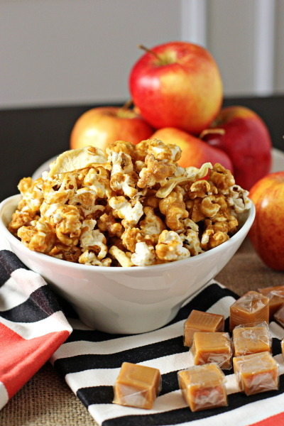 bakeddd:  caramel apple popcorn click here for recipe