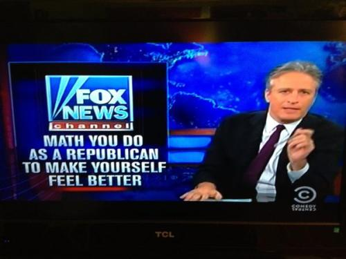"seriouslyamerica:  Jon Stewart came up with a better slogan for Fox than ""fair and balanced."""