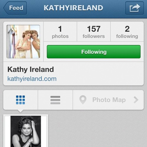 Follow my mom on Instagram! @kathyireland #kathyireland