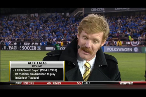 xiquarterly:  meninblazers:  This throbbing Moustache has somehow got Alexi Lalas growing out of it via GFOP Tyler Auvil  Issue two of XI Quarterly features an illustration of Lalas by Stanley Chow, but sadly not sporting this remarkable 'tache.