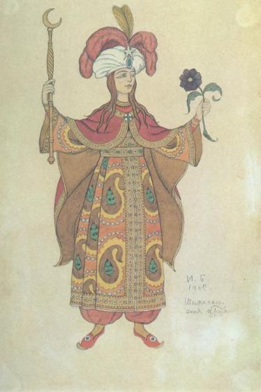 Costume design for the Opera, The Golden Cockerel, 1908Illustrations by Ivan Bilibin