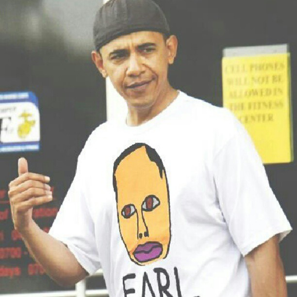 blackliphipster:  this is cute. #TeamObama #EarlSweatshirt #OFWGKTA