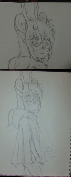 Madden (OC)-8/10/2012 (Sketch) I just really like deer people-anthro deer-deer characters, whatever you call them. So naturally I had to have my own. He's a few years old now. I've been really lazy and need to start inking and coloring my stuff.