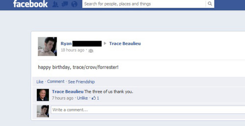 dont you love when your fave celebs respond to you on facebook!