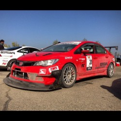 This #honda #Civic at #Globaltimeattack had a pretty crazy front lip! #timeattack #gta #buttonwillow #superlapbattle