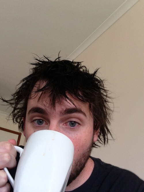 james-r-green-8:  My nose turned into a mother fucking coffee cup!!!  ——————- His eyes are pretty gorgeous! *sigh*