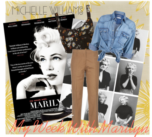 Fashion in Movies: My Week With Marilyn There's no era of fashion that screams classic and glamorous like the 50's. And there's no woman that screams the same like Marilyn Monroe. Played by Michelle Williams in My Week With Marilyn, Marilyn's style is something that every woman should emulate with at least one outfit or during a period of their lifetime. Showing off her beautiful curves while maintaining class was something that every woman should do. She showed off her body and was proud of every inch of it. Follow Marilyn's lead by wearing modern high-waist pants, skirts, and shorts and pair them with a classic button-up or a form fitting bra top. Another way we can take Mailyn's lead? Confidence. Fashion is all about confidence. Find your style, like Marilyn, and flaunt it. Confine to no one's fashion (and life) rules but your own.
