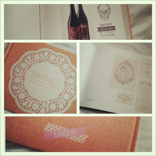 My portfolio came….its very….orange. all in all I'm pretty happy though. #phewwwwwph #design #graphicdesign
