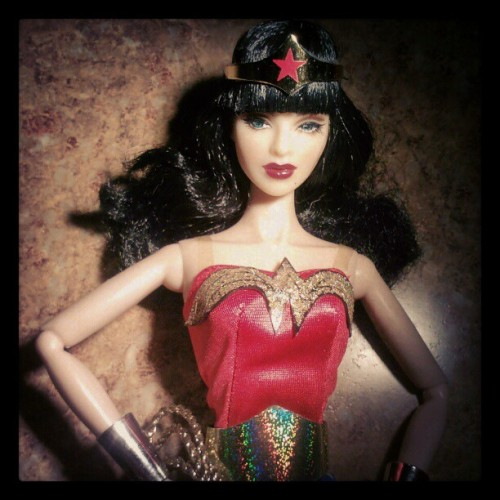 Another look at #Integrity #toys #FashionRoyalty #Luchia Z #doll as #WonderWoman for #Halloween. #toycrewbuddies #toyplanet #toycrewbuddiesusa #instahub #instagramhub #webstagram #dolls #toy #sexy #brunette #heroine #cosplay