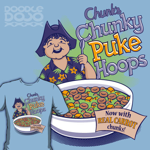 WARNING: Spilling Chunky Puke Hoops on other people may cause them to puke all over each other. Available at Redbubble and Society6. Doodle Dojo | Facebook