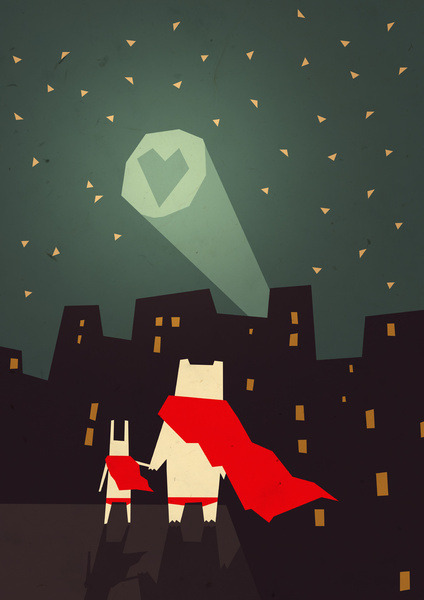 The City Needs Love by Yetiland Prints available at Society6.