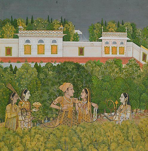 Nidha Mal Prince and Ladies in a Garden Mid-18th century