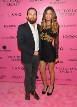 kolandmore:  Caleb and Lily again arriving at the Victoria's Secret Fashion Show after party