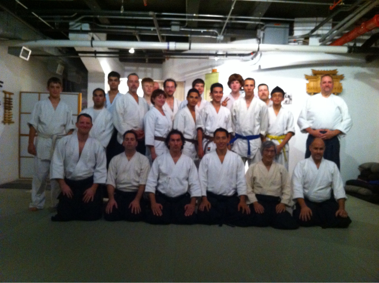 T. Toyoda Sensei at Shoshinkan Dojo in Providence, RI.