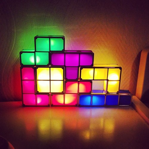 My new bed light #game #tetris #art #light #lamp #igdaily