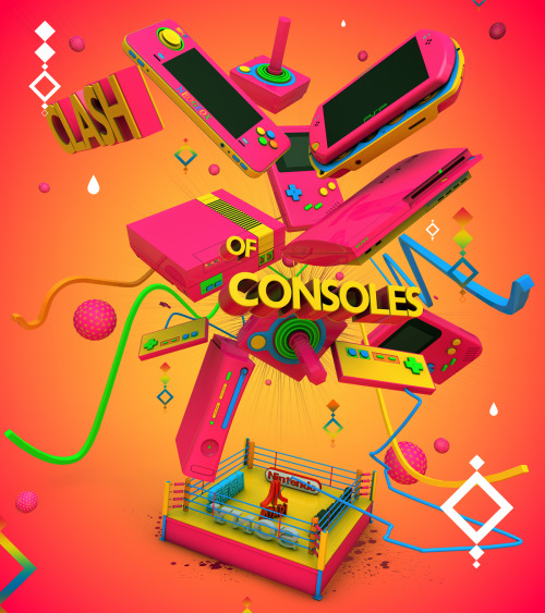 thechief0:  Clash Of The Consoles Green by ricardofx