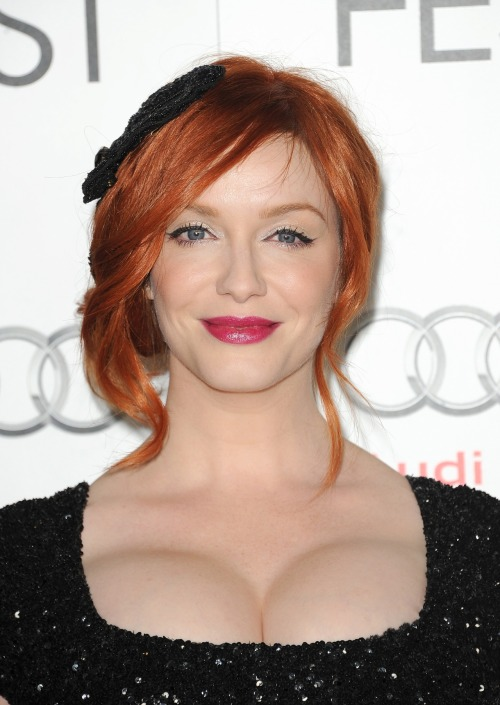 moviestarsgalore:  Christina Hendricks - Ginger and Rosa screening