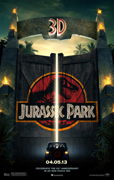 Jurassic Park 3D re-release poster launches Jurassic Park is gearing up to celebrate its 20th anniversary with a 3D re-release next year, and a new poster has been unveiled…