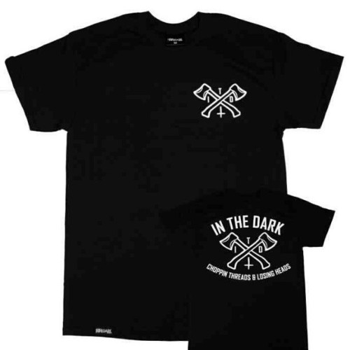 Pick up our crossed axes unisex tee in black right now at www.inthedarkclothing.co.uk #inthedarkclothing #inthedark #itd #instagram #streetwear #bmxuk #skateboard #clothing #uk #bmx #mtb #skate #barberlife #tshirt #tshirts #tattoo #tattoos #crossedaxes #london #brighton