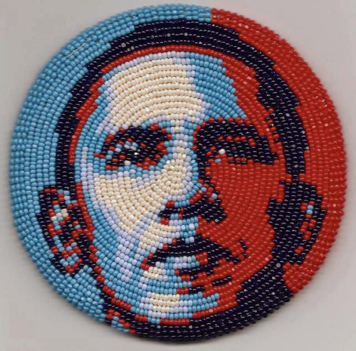 President Re-Elect Barack Obama, in Beads, by Marcus Amerman The day after President Barack Obama's re-election victory, his supporters are taking to social media with positive images — and it's our experience (your mileage may vary) that the supporters of his Republican opponent, Mitt Romney, are behaving civilly and graciously.
