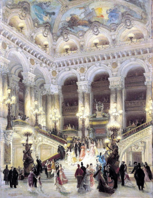 The Staircase of the Opera, by Louis Beraud, 1877