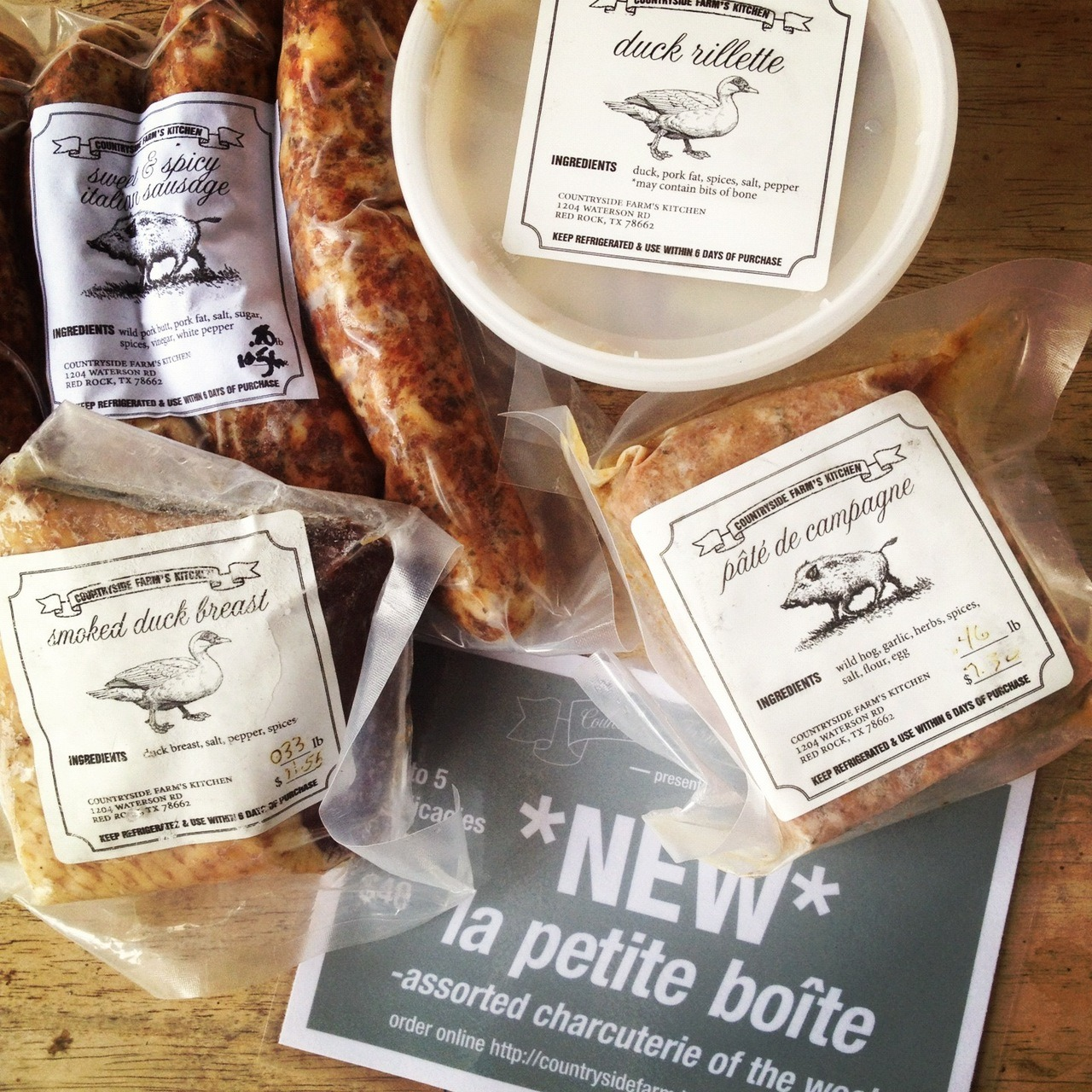 We now have an online store. You can purchase your Charcuterie box online here or on our Facebook page. (Like us to receive updates, pictures, and specials) At only $40, it is a convenient way to get a good sampling of all of our wonderful products. It is also a great gift.