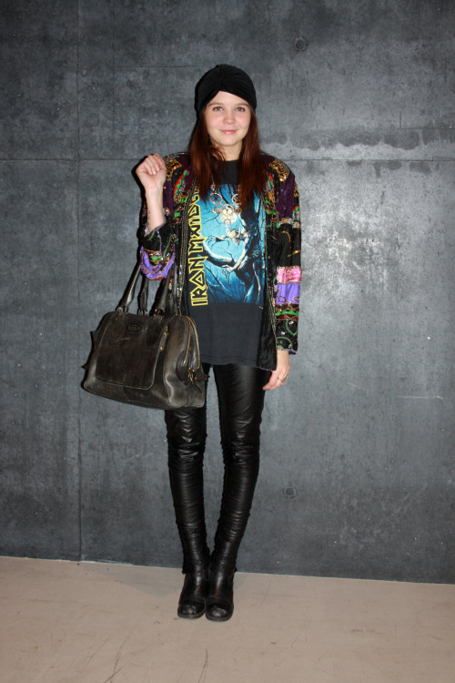 Mixing it up with a vintage Iron Maiden tee and sequin jacket, we love it! #IcelandAirwaves12 #streetstyle The uncut street shot gallery from the festival is now live SUBSCRIBERS CLICK HERE FOR THE FULL REPORT  Watch out for the edited trend analysis next week