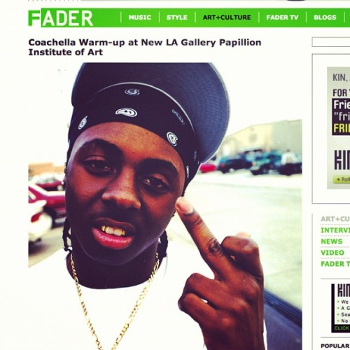 "Throwback Fader Magazine publishes an article about the gallery the morning of April 15, 2010 the day we opened our doors to LA! The photo is by Paul ""Animalchan"" @sgvforlife of lil Wayne when he was 13yrs old, way before ""Tha Block is Hot"" thanks @nnadibynature ;-) #tbt #throwback #thursday #fadermag #thefader #lilwayne #animalchan #sgv #losangeles #dtla #papillion #art #photography #magazine #press #interview #music #hiphop  (at Papillion Institute of Art)"