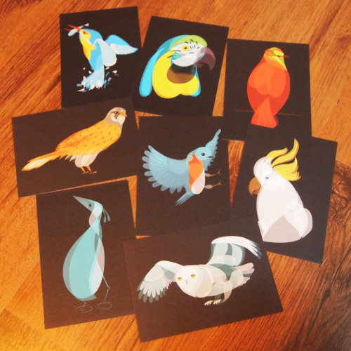 'AIR' Fluid Animal Postcard sets are now on sale from FluidAnimals.com Air | Earth | Water