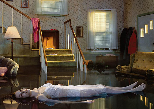 "BIG PICTURE Catch the last weekend of the Gregory Crewdson doc at Film Forum before it closes on Tuesday. Often working with big-budget movie setups, Crewdson's elaborate large-scale stills present narratives that tell feature-length stories—without a script or moving image. Says Film Forum, ""Ben Shapiro's fascinating profile of the acclaimed artist includes stories of his Park Slope childhood (in which he tried to overhear patients of his psychologist father), his summers in the bucolic countryside (which he now imbues with a sense of dread and foreboding), and his encounter with Diane Arbus's work in 1972 at age 10."" (Talk about precocious Brooklyn kids.) Gregory Crewdson: Brief Encounters photo via"