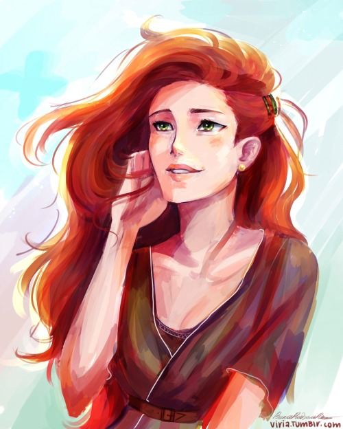 viria:  I guess I felt inspired enough to paint some Lily Evans while experimenting with colouring. and strangely I love the result. I really love the result of something I did omg *_*