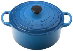 Le Cruset Cocotte - always a perfect gift. Even more perfect in Marseille Blue. #HHHholidayshoppingguide
