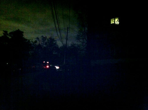 Widespread blackout in Yonkers, NY. Photo by Eric.