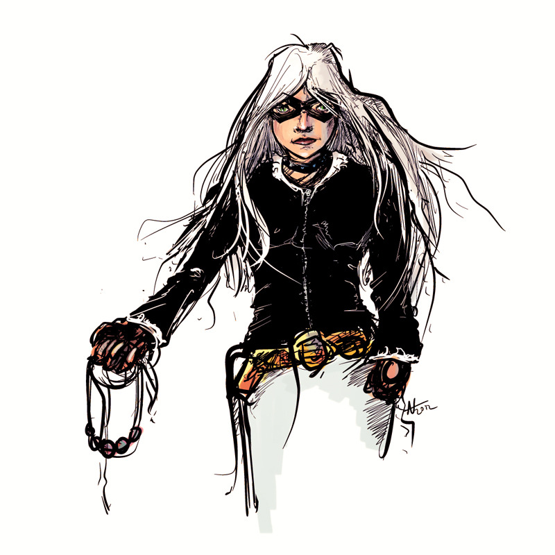 Black Cat fanart. Far too little time spent.