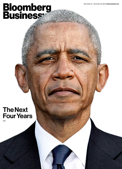 Cover of Bloomberg Businessweek Marks Reelection of President Obama