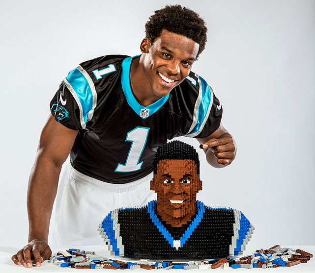 Panthers quarterback Cam Newton - both in real life and in LEGO form. (Michael J. LeBrecht/SI) KING: Midseason NFL Awards | Second-Half Thoughts