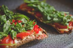 food fresh green pizza healthy vegan salad vegetables RAW