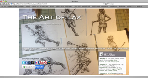 NEW Welcome/Homepage using a few of the newest pieces, thus far. The Art of Lax™.