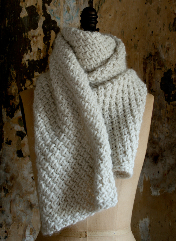 truebluemeandyou:  DIY Snowflake Scarf Free Pattern from The Purl Bee here. This scarf is knitted on size 15 needles so it will go really quickly. For knitting 101 and resources of where to find good knitting tutorials go to my post from inspiration & realisation here. I also want to knit this honeycomb scarf here. Any suggestions for cheaper wool than what is mentioned for this tutorial ( $19.50 per skein, 4 skeins needed of Super Soft Merino)?  I don't knit but I know a lot of my followers do, so here's a free pattern for a pretty scarf.