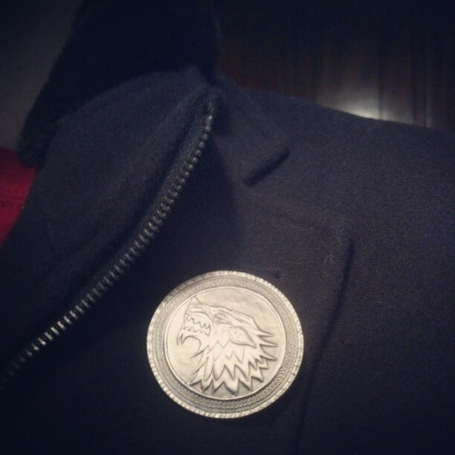 House Stark crest pin came in the mail. Officially prepared for winter now.