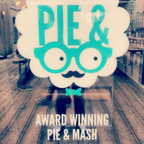 Award Winning Pie & Mash: Movember Style… #Restaurant #London #Boxpark #Shoreditch #Pie #Mash #Award #InstaHub #InstaDaily #Movember #Design #Graphic #Logo #Geek #PicOfTheDay #Food #Love #Art
