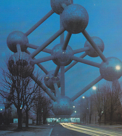"the-mkultra:  Atomium by Roland Gööck from ""all miracles of the world"" - 1968"