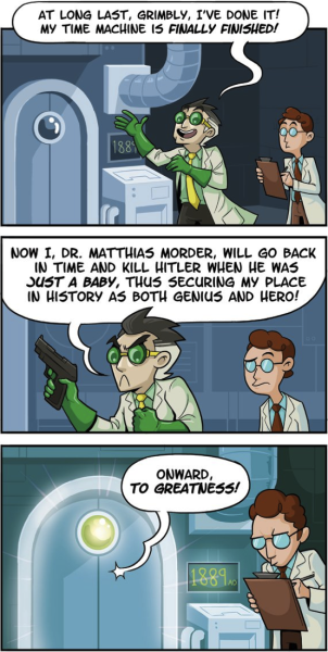 collegehumor:  Time Traveler's Most Wanted [Click to continue[ Time travelers don't just make history, they rewrite it.