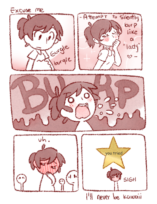 "btbcomic:  ""I swear this doesn't happen often"" I tried to laugh it off saying something like ""haha sorry, I have a man inside me."" but that didn't quite work either.  i can relate"