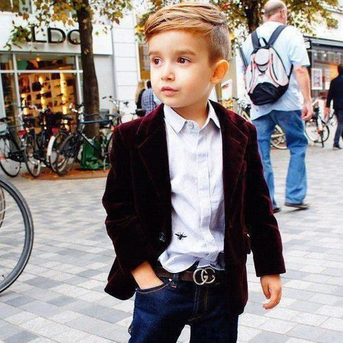 wgsn:  Check out this little gentleman! From one of our favourite sites - children with swag.