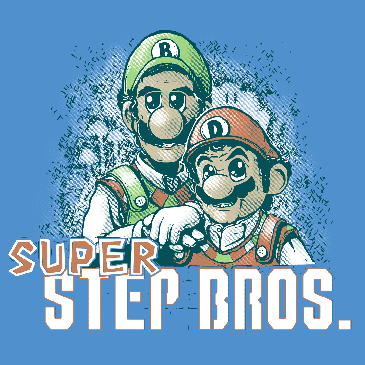 insanelygaming:  Super Step Bros Available on ShirtPunch for $10.00 for only 10 more hours! Created by TeevsTee