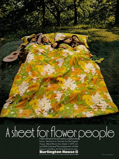 living70s:  Sheet for Flower People, 1970