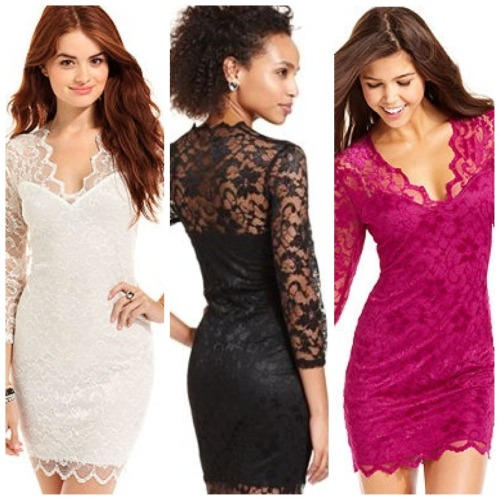 Lace dresses at Macy's!
